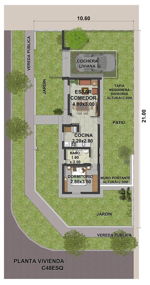 VIVIENDA C ESQUINA 1DORMIT-11-2020