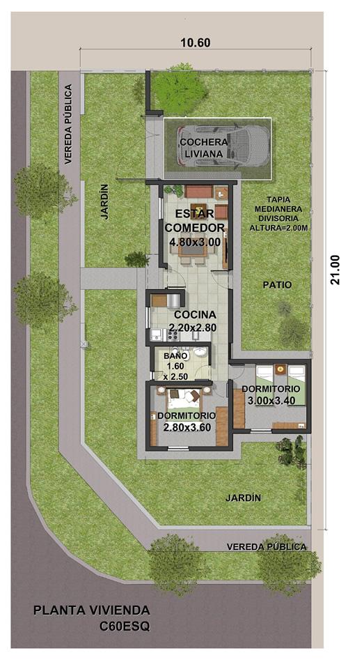 VIVIENDA C ESQUINA 2DORMIT-11-2020